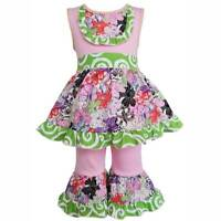 AnnLoren Fabulous Floral Dress and Capri Outfit  Girls Size 6