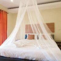 Weißes Moskitonetz Baldachin Fliegen Insektenschutzmittel für Einzel Doppelbett