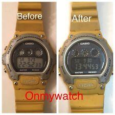 Polarized Film Casio W-214H Watch Negative Display Modification (3 Pieces)