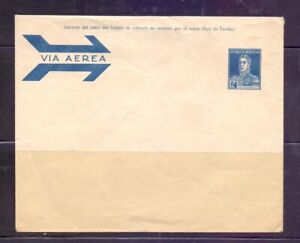 Argentina postal stationary Airmail 12 cts  GJ SO 8, * small defects  very RR!!l