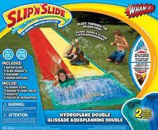 Wham-o Slip N Slide Dual Waterslide w/2 Slide Boogies and Huge Water Splash Pool