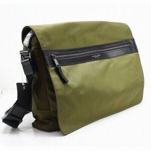 Michael Kors Green Kent Large Nylon Solid Messenger/Shoulder Bag $198- #381