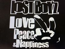 "LOST BOYZ Love Peace & Nappiness Decal ( 5.7"" X 5.8"") Mr. Cheech, Freaky Tah"