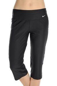 Nike Womens Advantage Slim Fit Poly Capri Black Training Leggings Pant Ladies XS