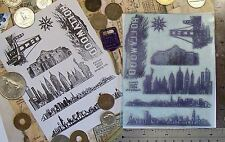 UM Famous Places set of 7 rubber stamps great detail!