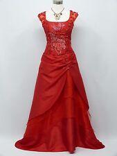 Cherlone Red Ballgown Wedding/Evening Cap Sleeve Formal Bridesmaid Dress 16-18