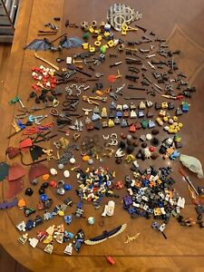 Lego Minifigures Parts And Accessories And Weapons Lot