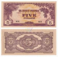 MALAYA 5 Dollars, *MR*, Japanese Government, WWII, 1942, P-M6c, AU-UNC