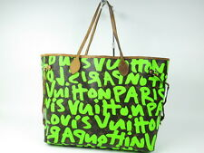 Authentic Louis Vuitton Monogram Graffiti Neverfull GM tote bag r189