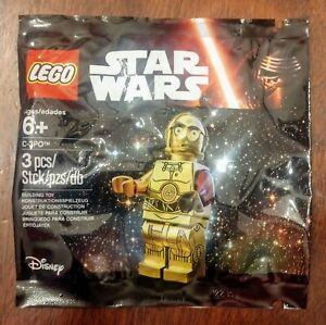 Star Wars lego mini figure SANTA C3PO c 3po protocol droid 75097 with sack