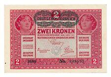 AUSTRIA banknote 2 Kronen 1917 XF+