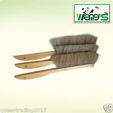 Double Row Horse Hair Bee Brush With Tilted Head Beekeeping Tool Home&Farm Brush