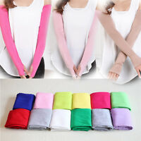 1Pair Pretty Fingerless Gloves Women Long Cotton Gloves Sun Protection Mittens