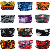 Fashion Unisex Men Skull Head Face Mask Wear Tube Bandana Biker Motorcycle Scarf