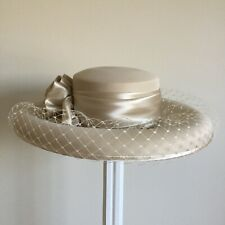 Jami Ladies Cream  Wide Brim Mother Of The Bride,Wedding Hat.