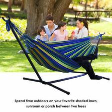 New listing Hammock & Steel Frame Stand Swing Chair Home/Outdoor Backyard Garden Camp Sleep