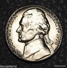 "1958-D BU Jefferson Nickel  ""Free Shipping & Your Satisfaction is Guaranteed"""