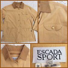 ESCADA SPORT Cotton Cord Jacket sz L LIGHTWEIGHT FOR  WINTER SPRING