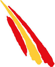 Pegatina Bandera Trazo 2 España 110x30 mm.