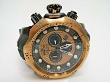 Invicta Men's Venom Chronograph Watch Rose Gold Dial Black Strap 20445 Big Face