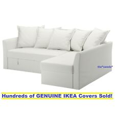 Ikea HOLMSUND Corner Sofa Bed Sectional Cover Slipcover RANSTA WHITE New in Box!