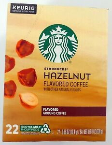 NEW Starbucks Hazelnut Flavored K-Cup Coffee Pods for Keurig - 22 Pods BB 03/22