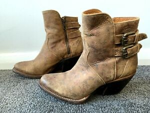 Lucchese Catalina Boots 6.5 Handmade Mexico Floral Genuine Leather Boho Gypsy