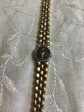 Vintage Armitron DEAUVILLE DIAMOND Ladies Gold Tone Quartz Watch