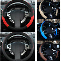 7 Colors PU Leather Car Steering Wheel Cover Anti-slip Protector Univresal 38cm