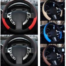 7 Colors PU Leather Car Steering Wheel Cover Anti-slip Protector Univresal 38cm