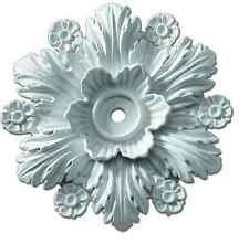 Beaumont Smooth Ceiling Medallion Ceiling Light Flower Decor Pre-Primed Rosette