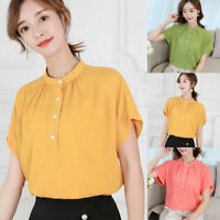 Short Sleeve Top Women Chiffon Ladies Summer Shirt T-Shirt Fashion Loose Blouse