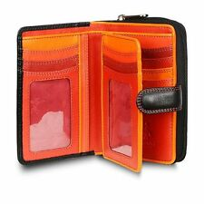 Visconti R13 Ladies Girls Leather Wallet Purse Black Red Travel Cards Case Gift