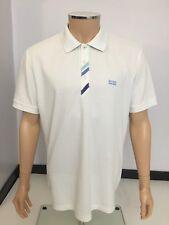 Hugo BOSS Polo Hombre Patrick T Shirt, XL, blanco, en muy buena condición