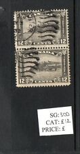 Canada - George V  12c used pair of postage stamps