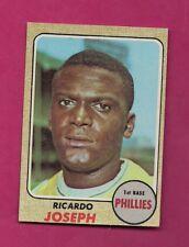 1968 TOPPS # 434 PHILLIES RICARDO JOSEPH ROOKIE EX-MT CARD (INV# A4845)