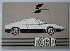 FORD SPORT orig 1971 Swiss Mkt Brochure - Capri RS2600 GT70 Escort RS1600 Mexico