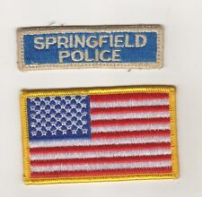Ricamate USA POLICE UNIFORM shoulder Patch Springfield e Bandiere Patch