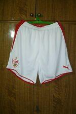 VFB Stuttgart Puma Football Shorts Home 2009/2010 Soccer White Men Size M Medium