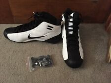 Mens 14 Nike Zoom Air Barracuda Stove Detachable Cleats Black White High Top Nwt