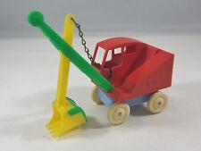 Vintage Allied Molding Corp Dimestore Toy Plastic Steam Shovel Gravel Dirt Truck