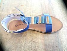 75e345a4080bb KICKERS sandales cuir marine or NEUVE valeur 89E pointure 38