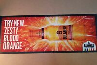 BULMERS CIDER ZESTY BLOOD ORANGE RUBBER BACKED BAR RUNNER NEW PUB MAN CAVE MAT