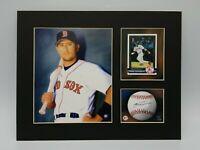 Nomar Garciaparra Boston Red Sox Matted Toon Art Print LTD 1 of 5000 Ready Frame