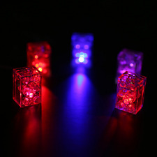2 x LED LEGO LUNAR LIGHTS compatible Lego Blocks FREE AXLE!! Red & Blue flashing