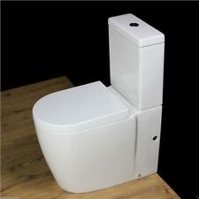Toilet WC Close Coupled Comfort Height Rimless Pan Cloakroom Heavy Duty Seat T6N