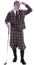 Mens 1930s 40s 50s Golfer Vintage Old Golf Stag Fancy Dress Costume Outfit