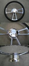 Billet steering wheel & Adapter CHEVY Horn 69-94 GM chevy Ididit Jeeps