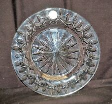 "Classic Style Lenox Full Lead Crystal 8-3/8"" Clear Salad Plate Abstract Germany"
