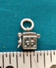 PRAYER BOX Sterling Silver Charm PENDANT #1079